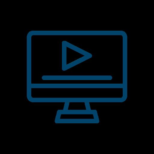 Bild mit Video Symbol